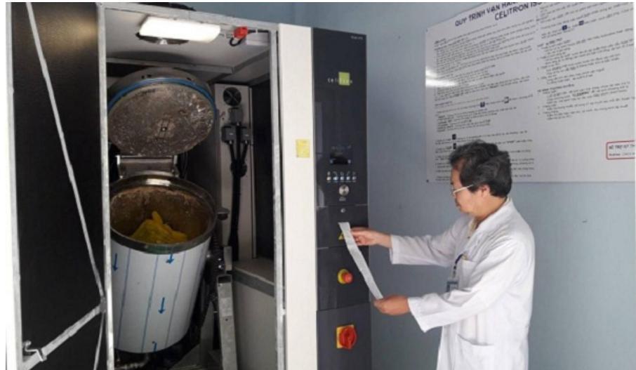 Xử lý chất thải y tế nguy hại bằng hơi nóng